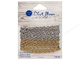 "Blue Moon Chain W&S 26"" Metal Gold Silver"