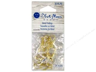 Earrings Beading & Jewelry Making Supplies: Blue Moon Beads Earwire 32 pc Silver & Gold Assorted