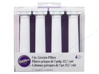 "Wedding: Wilton Decorations Grecian Separator Pillars 5"" 4pc"