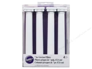 "Wilton Decor Grecian Separator Pillars 7"" 4pc"