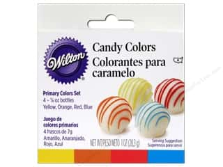 Cooking/Kitchen Black: Wilton Candy Colors Set Primary 4 pc.