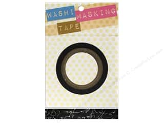 "Darice Tape Washi Masking 5/8"" Script Black/White 8m"