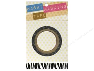 Darice Tape Washi Masking 5/8&quot; Zebra 8m