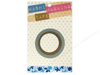 "Decorative Masks Blue: Darice Tape Washi Masking 5/8"" Floral Silhouette 8m"