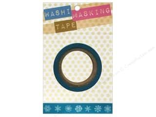 Darice Tape Washi Masking 5/8&quot; Snowflakes 8m