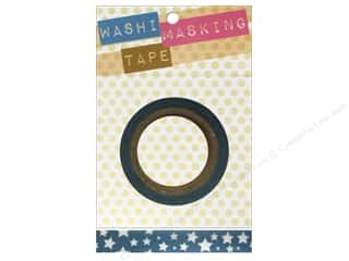 "Darice Tape Washi Masking 5/8"" Stars Blue/White 8m"