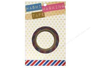 Darice Tape Washi Masking 5/8&quot; Stripe Americana 8m
