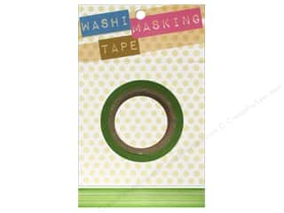 "Tapes Masking Tape: Darice Tape Washi Masking 5/8"" Horizontal Stripe Green 8m"