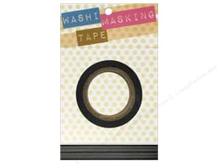 "Tapes Masking Tape: Darice Tape Washi Masking 5/8"" Horizontal Stripe Black 8m"