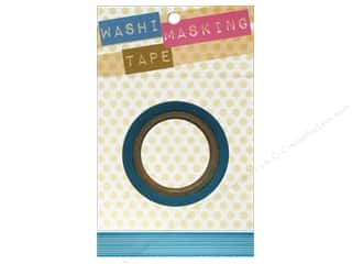 "Decorative Masks $8 - $9: Darice Tape Washi Masking 5/8"" Horizontal Stripe Blue 8m"