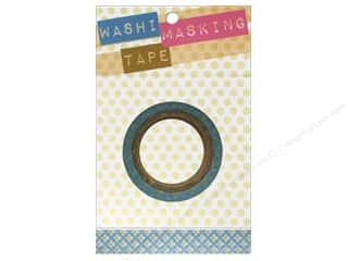 "Decorative Masks Blue: Darice Tape Washi Masking 5/8"" Lattice Blue 8m"