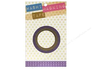 "Darice Tape Washi Masking 5/8"" Argyle Purple 8m"