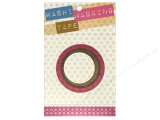 "Tacks Pink: Darice Tape Washi Masking 5/8"" Argyle Pink 8m"