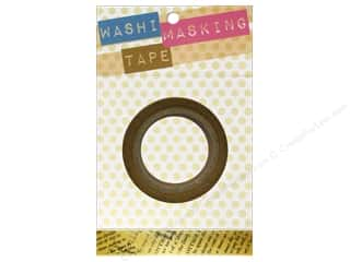 "Glue and Adhesives Brown: Darice Tape Washi Masking 5/8"" Newspaper 8m"