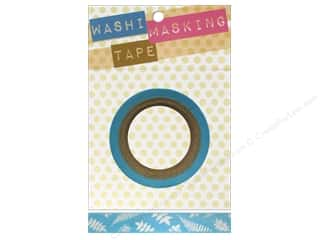 "Darice Tape Washi Masking 5/8"" Ferns Blue 8m"