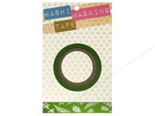 "Darice Tape Washi Masking 5/8"" Ferns Green 8m"