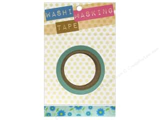 Darice Tape Washi Masking 5/8&quot; Floral Yelw/Blue 8m