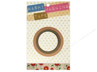 "Darice Tape Washi Masking 5/8"" Floral Yelw/Red 8m"