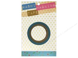 Darice Tape Washi Masking 5/8&quot; Floral Pink/Blue 8m