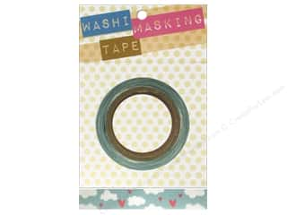 Darice Tape Washi Masking 5/8&quot; Hearts &amp; Clouds 8m