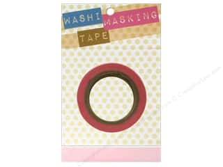 "Glues, Adhesives & Tapes Darice Tapes: Darice Tape Washi Masking 5/8"" Pink 8m"