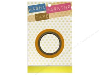 "Glues, Adhesives & Tapes Darice Tapes: Darice Tape Washi Masking 5/8"" Yellow 8m"