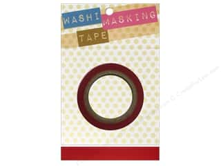 "Darice Tape Washi Masking 5/8"" Red 8m"