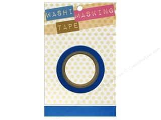"Tapes Masking Tape: Darice Tape Washi Masking 5/8"" Blue 8m"