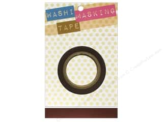 "Tapes Masking Tape: Darice Tape Washi Masking 5/8"" Brown 8m"