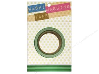 "clearance  > tape measure: Darice Tape Washi Masking 5/8"" Long Stripe Grn/Wht"