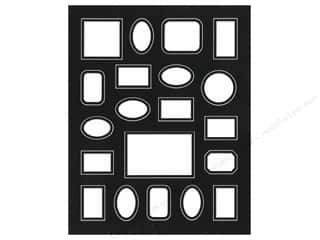 "Framing Mat Double 16""x 20"" 20-Openings White Core Black/Black"