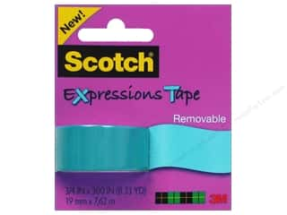 Scotch Tape Expressions Removable .75x300 Blue