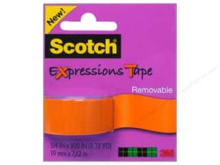 Scotch Tape Expressions Removable .75x300 Orange