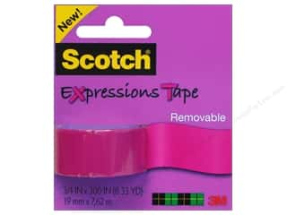 "Scotch Tape: Scotch Tape Expressions Removable .75""x 300"" Pink"