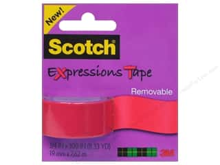 Scotch Tape Expressions Removable .75x300 Salmon
