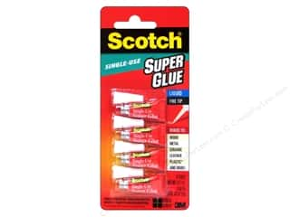 Scotch Adhesive Super Glue Single Use .017oz 4pc