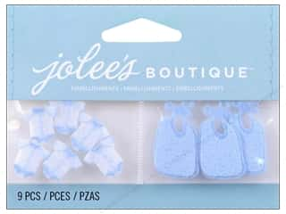 Jolee's Boutique Embellishments Baby Boy Pajamas and Bib