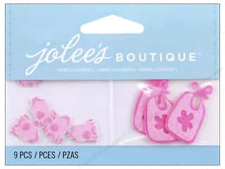 Bibs Hearts: Jolee's Boutique Stickers Baby Girl Pajamas and Bib