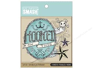 Beach & Nautical paper dimensions: K&Company Smash Rub Ons Nautical Tattoos