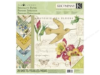 K & Company Designer Papers & Cardstock: K&Company Paper Pad 12 x 12 in. Tim Coffey Foliage Specialty