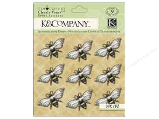 K&Company Stickers Clearly Yours Tim Coffey Foliage Bees