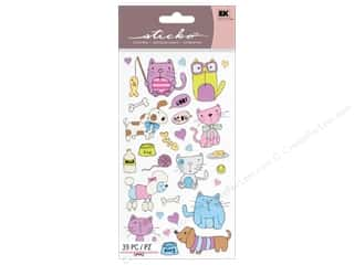 Pets Brown: EK Sticko Stickers Cats And Dogs