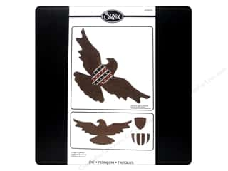 Independence Day Chipboard: Sizzix Bigz Pro Die Eagle & Shield by Rachael Bright