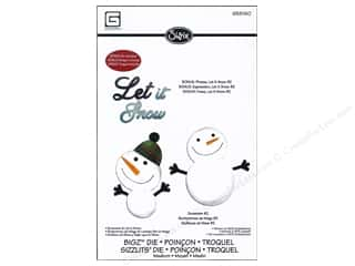 Mothers Day Gift Ideas Sizzix: Sizzix Bigz Die w/ Bonus Sizzlits Die Snowman/Let It Snow