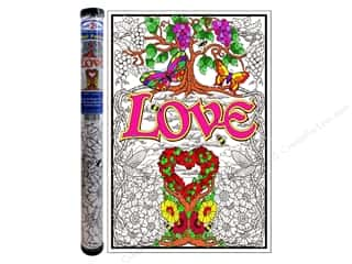 "Stuff2Color Kids Gifts: Stuff2Color Wall Poster 22""x 32.5"" Love Garden"