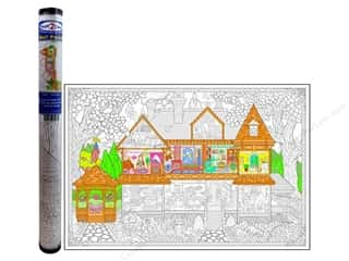 "Kid Crafts Clearance: Stuff2Color Wall Poster 22""x 32.5"" Victorian House"