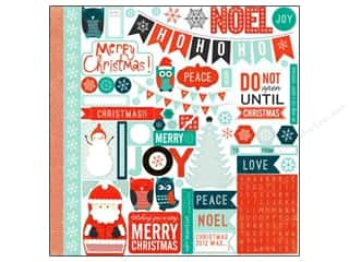 Echo Park Paper Company Alphabet Stickers: Echo Park Sticker 12x12 Dear Santa Elements (15 sets)