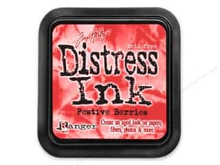 Pads: Tim Holtz Distress Ink Pad by Ranger Festive Berries