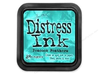 Ranger Blue: Tim Holtz Distress Ink Pad by Ranger Peacock Feathers