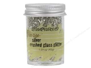 Glasses Basic Components: Stampendous Fran-Tage Glass Glitter 1.59oz Silver